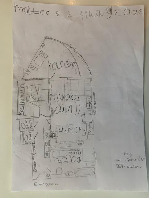Mateo B's map of his home