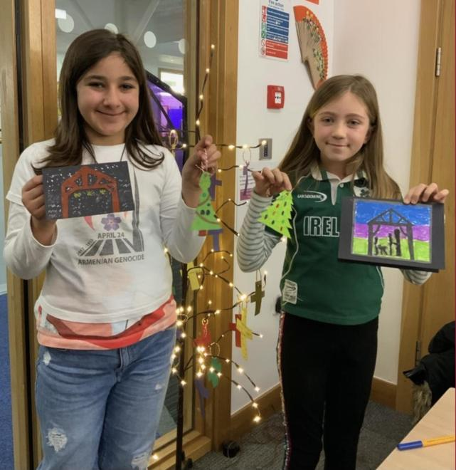 Making Christmas Cards for the Irish Chaplaincy