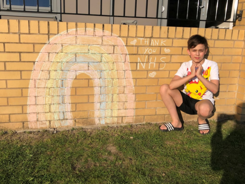 Maxi (Year 6) showing gratitude for the NHS