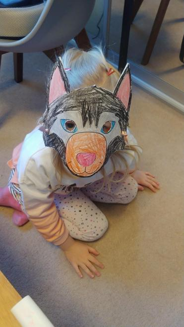 Laura's wolf mask