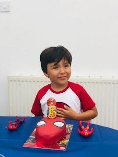 Gio's Spiderman birthday cake