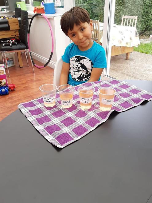 Giovanni's capacity learning using liquids