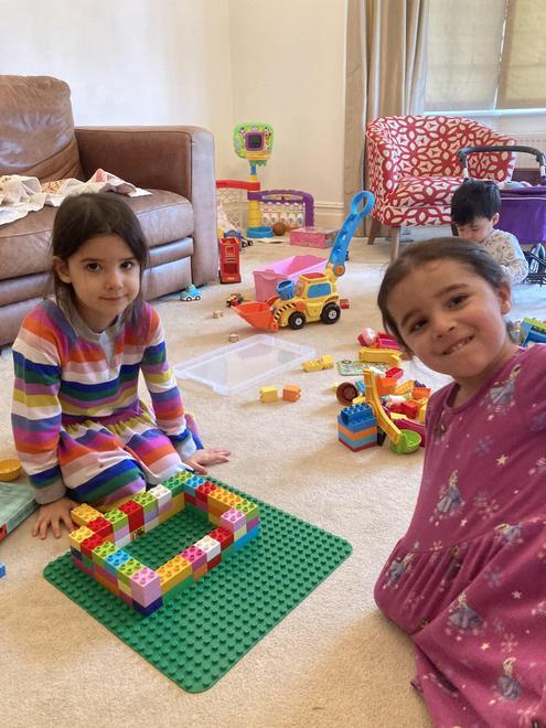 Isabel - 3 little pigs' house of bricks