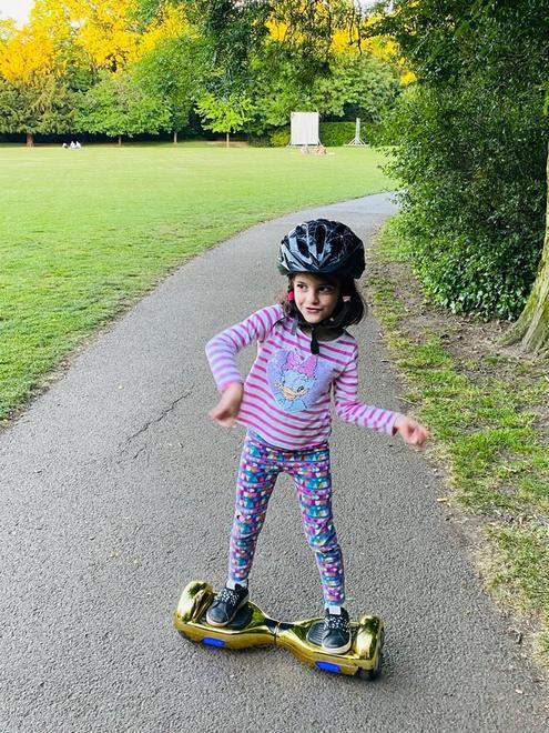 Sophie's hoverboard skills