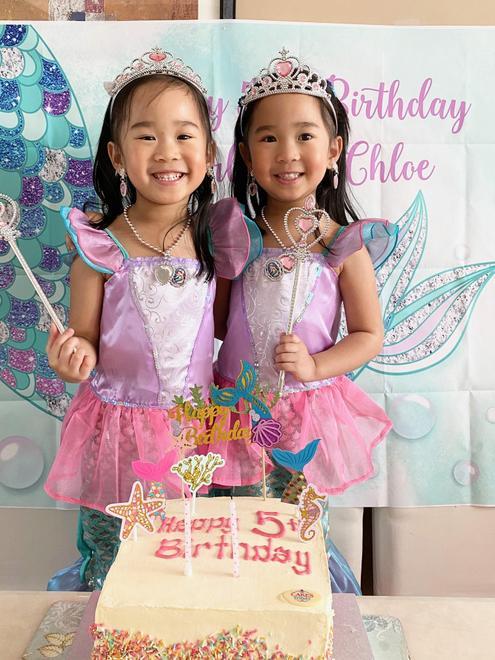 Chloe and Charlotte's birthday cake
