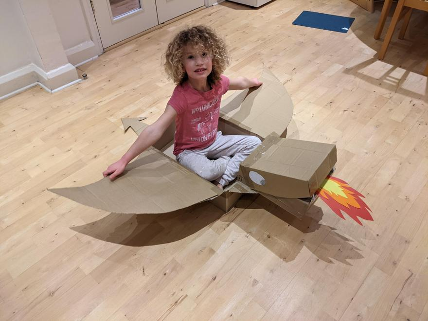 Nina's flying dragon