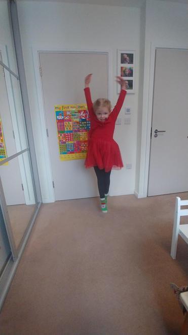 Laura's happy swan dancing 2