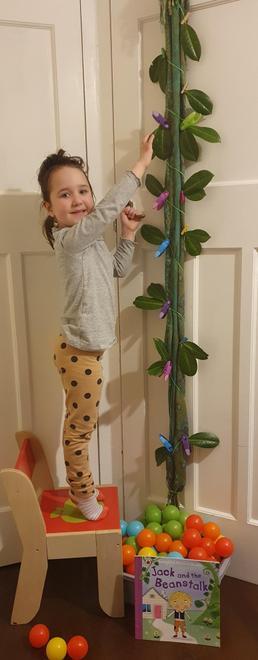 Goda's beanstalk is 17 hands high!