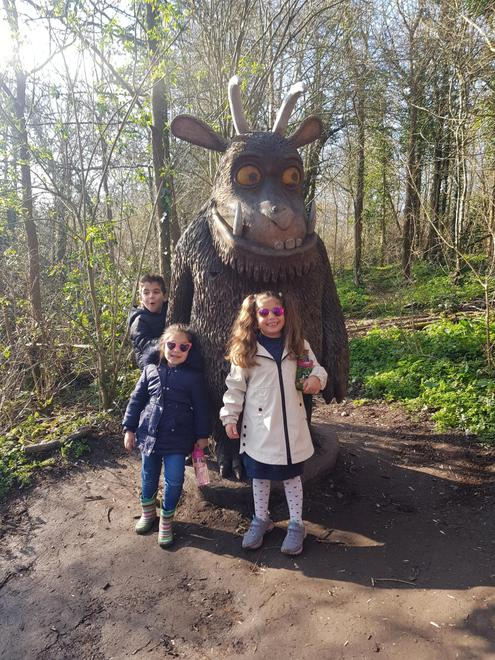 Yousef with The Gruffalo