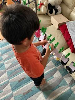 Mateo B's counting in 2s using socks