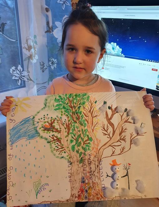 Goda's tree showing all 4 seasons