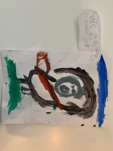 Mateo B's picture of Jesus with speech bubble