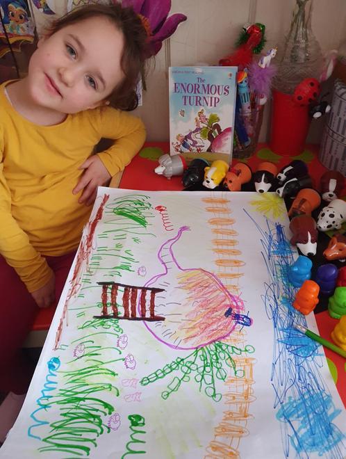 Goda's own version of the Gigantic Turnip story