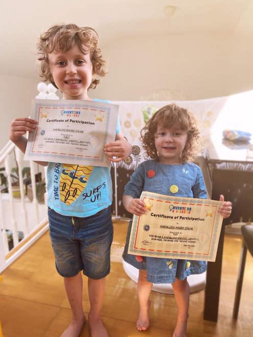 Theo and Tilly's Certificates