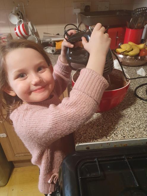 Grace's half term chocolate cake