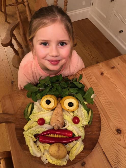 Natalia's fabulous fruit and veg face