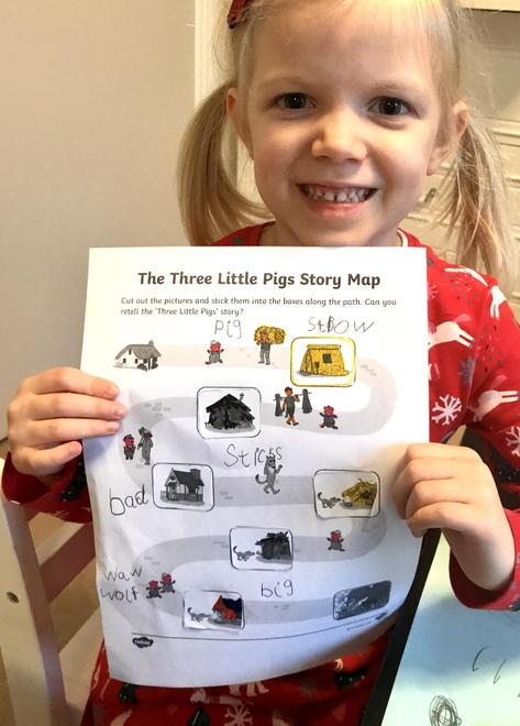 Laura's 3 little pigs story map