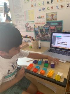 Mateo B's Duplo counting in 2s