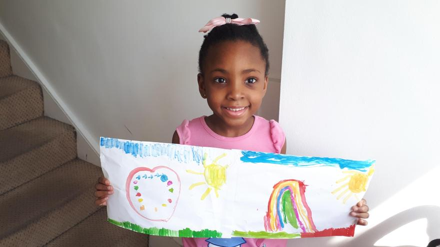 Ella A's rainbow for the NHS