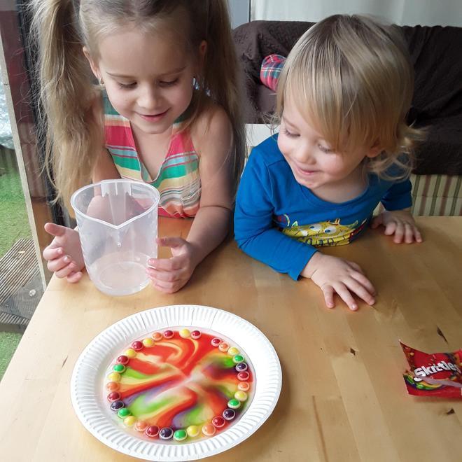 Jagoda's rainbow experiment
