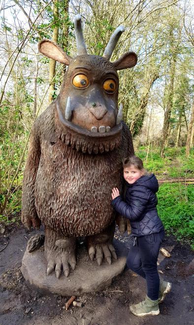 Julia visits The Gruffalo trail