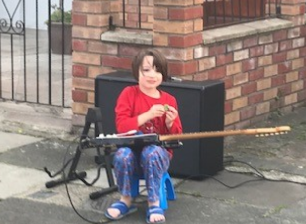 Hugo (Year R) sharing his talent to show support for key workers