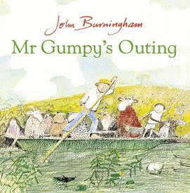One day Mr Gumpy decides to take a trip along the river in his boat. But the children, the rabbit, the cat, the pig and lots more friends decide to join him. Everyone's having a lovely time until the animals start kicking, bleating, hopping and flapping and the boat starts to rock. What will happen...?