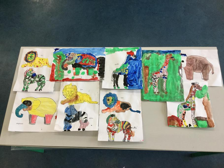 Y1  learned  to classify animals and painted some.