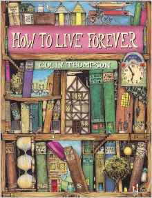 Peter and his family live among the Quinces in the cookery section of a mystical library, and at night, when the library comes to life, Peter ventures out of his home to find a missing volume: How To Live Forever