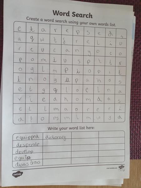 Great word search from Liliana