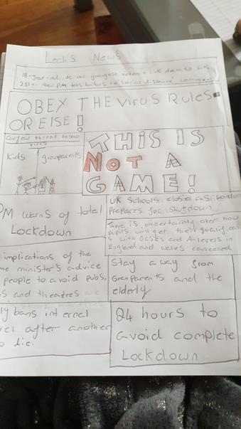 Newspaper report about Coronavirus By Jayden
