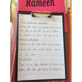 Excellent written work from Rameen