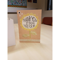 Thank you card to accompany the cake