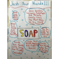 Nate hand washing poster - so informative!