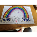 Sophie's lovely rainbow for the NHS