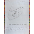 Super drawing of a hand and key by Rameen