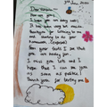 A thoughtful letter from Liliana