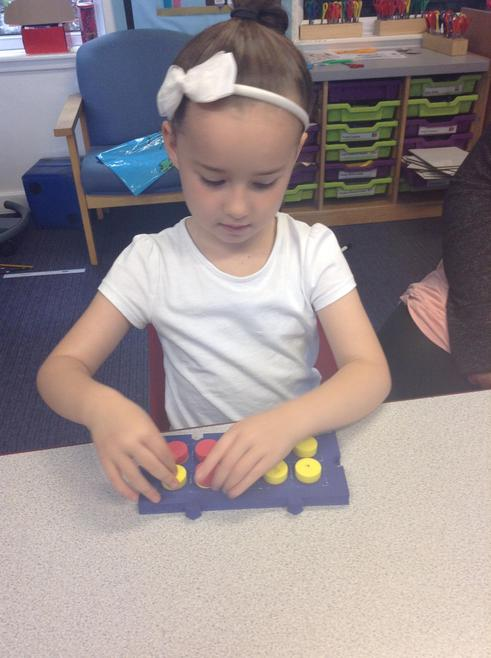 Learning how two numbers create one total.