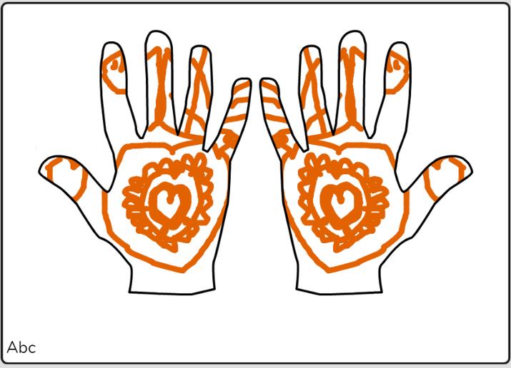 Iqra mehndi hands