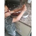 rice crispie cake making!