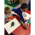 The children asked to paint a picture of a soldier