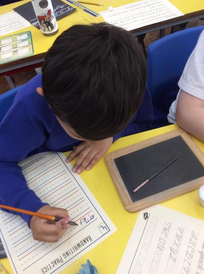 Older children used a dip pen and ink to write with