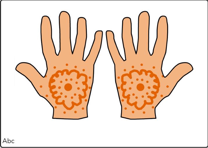 Rumeha mehndi hands