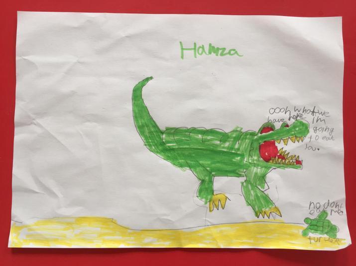 Hamza's alligator.