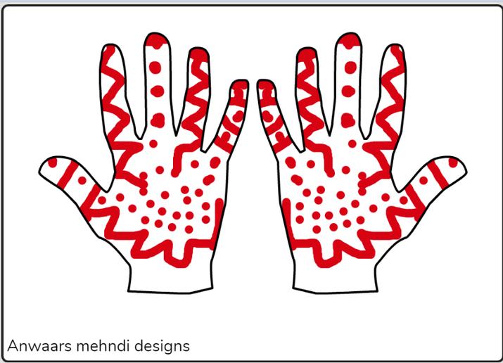 Anwaar mehndi  hands