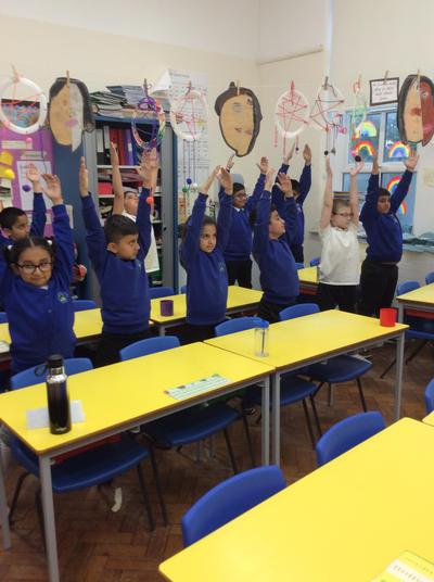 Drill was a form of PE. Victorian children exercised behind their chairs at school.