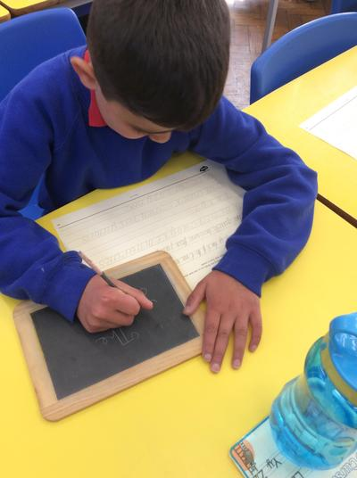 Victorian children used a slate to write with because paper was expensive.