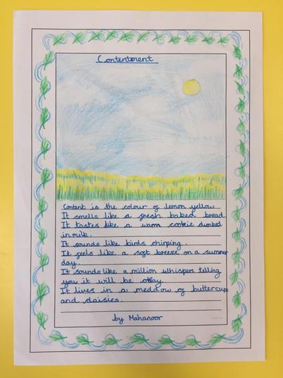 Mahanoor's poem