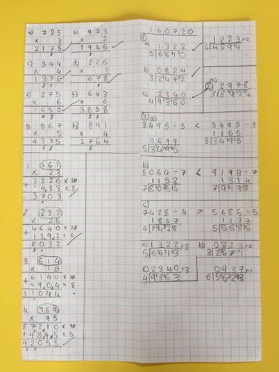 Mahanoor's maths.