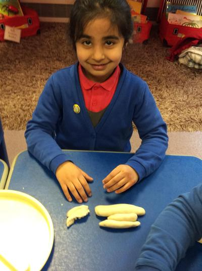 Making different sized sausages!